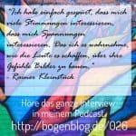 EHSP 026 Interview Rainer Kleinstück Hochsensibilität in der Kunst