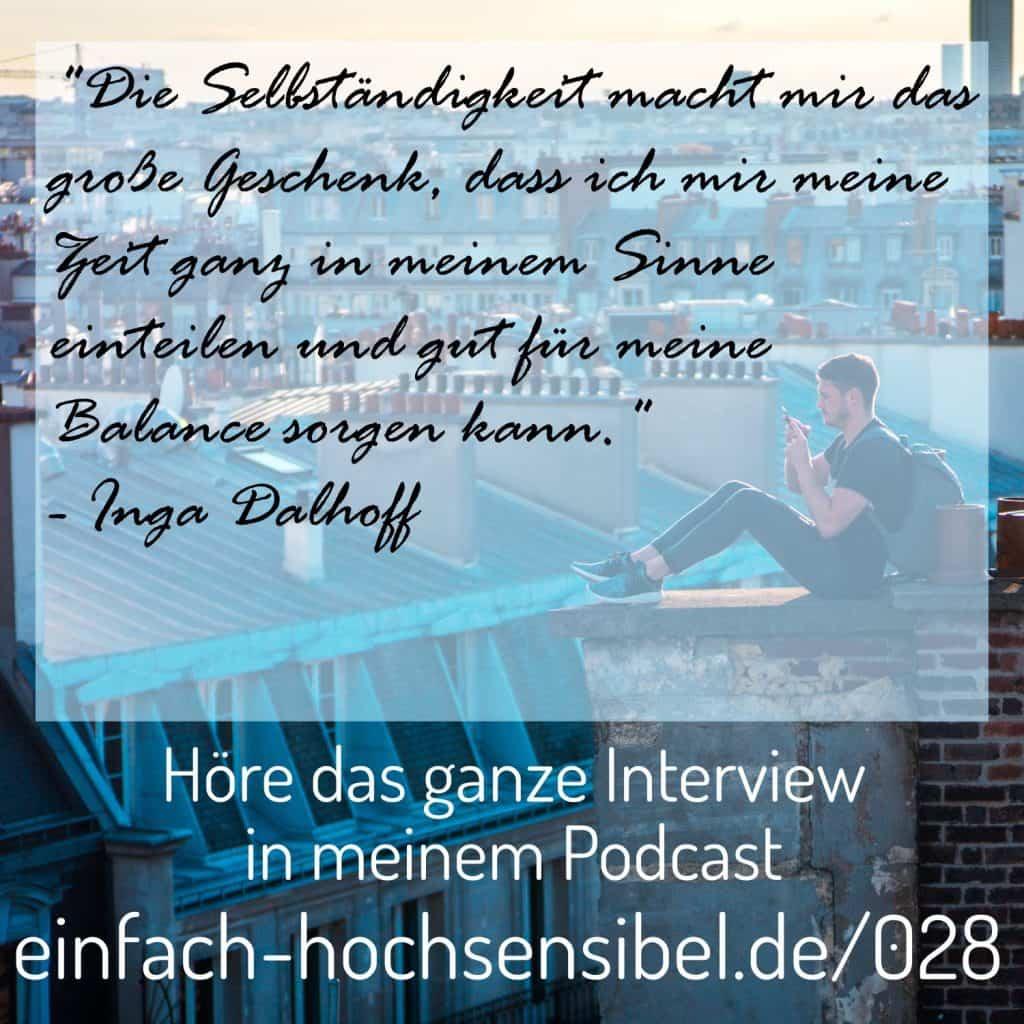 Selbstständigkeit und Hochsensibilität - Interview Inga Dalhoff