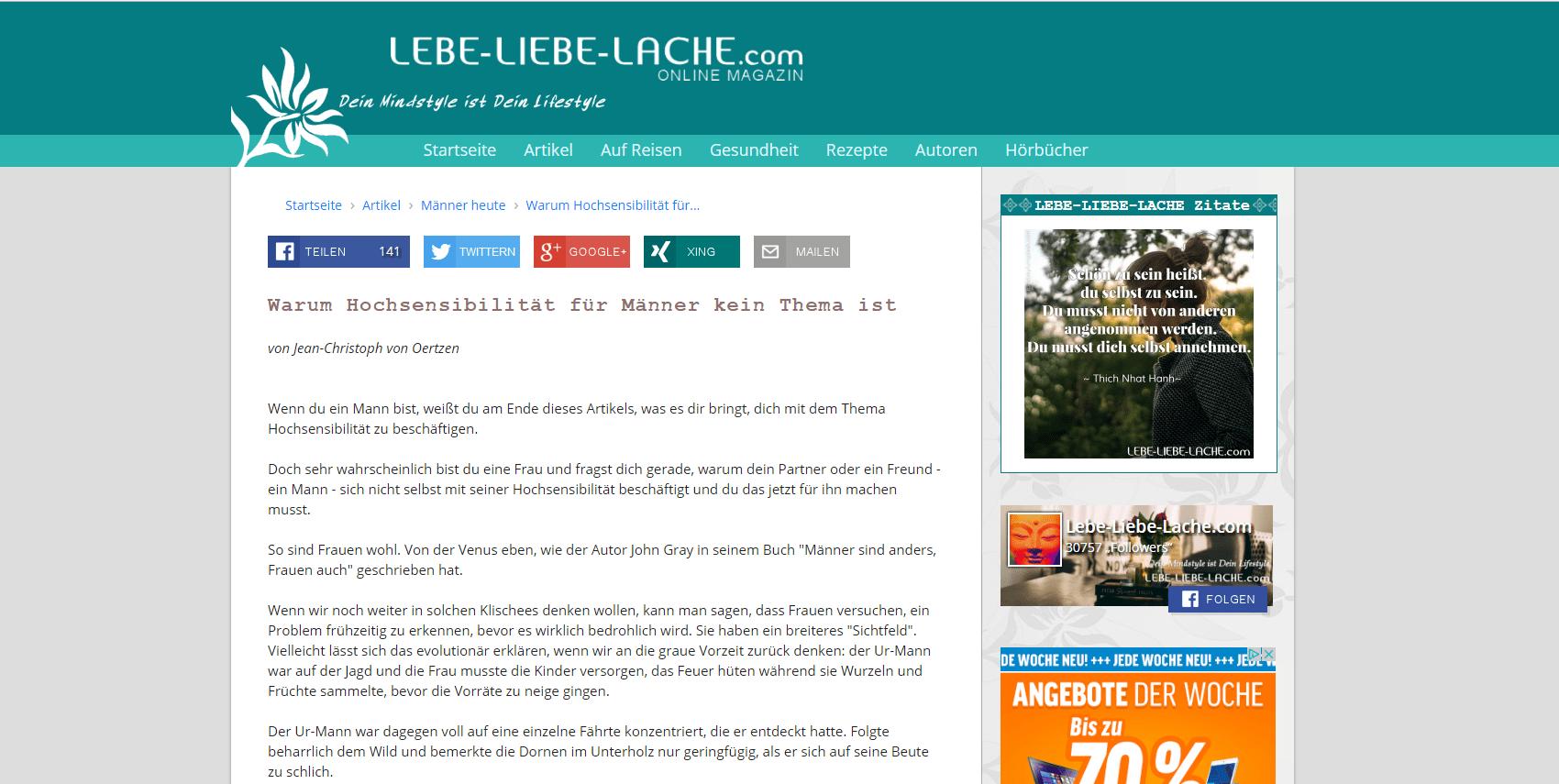 Warum Hochsensibilität für Männer kein Thema ist _ Lebe-Liebe-Lache.com