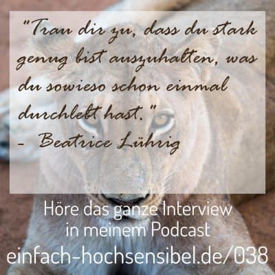 [EHSP 038] Trauma auflösen durch Retraumatisierung – Interview mit Beatrice Lühring