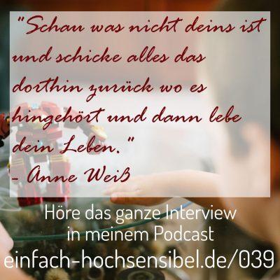 [EHSP 039] Trauma und hochsensible Kinder – Interview mit Anne Weiß