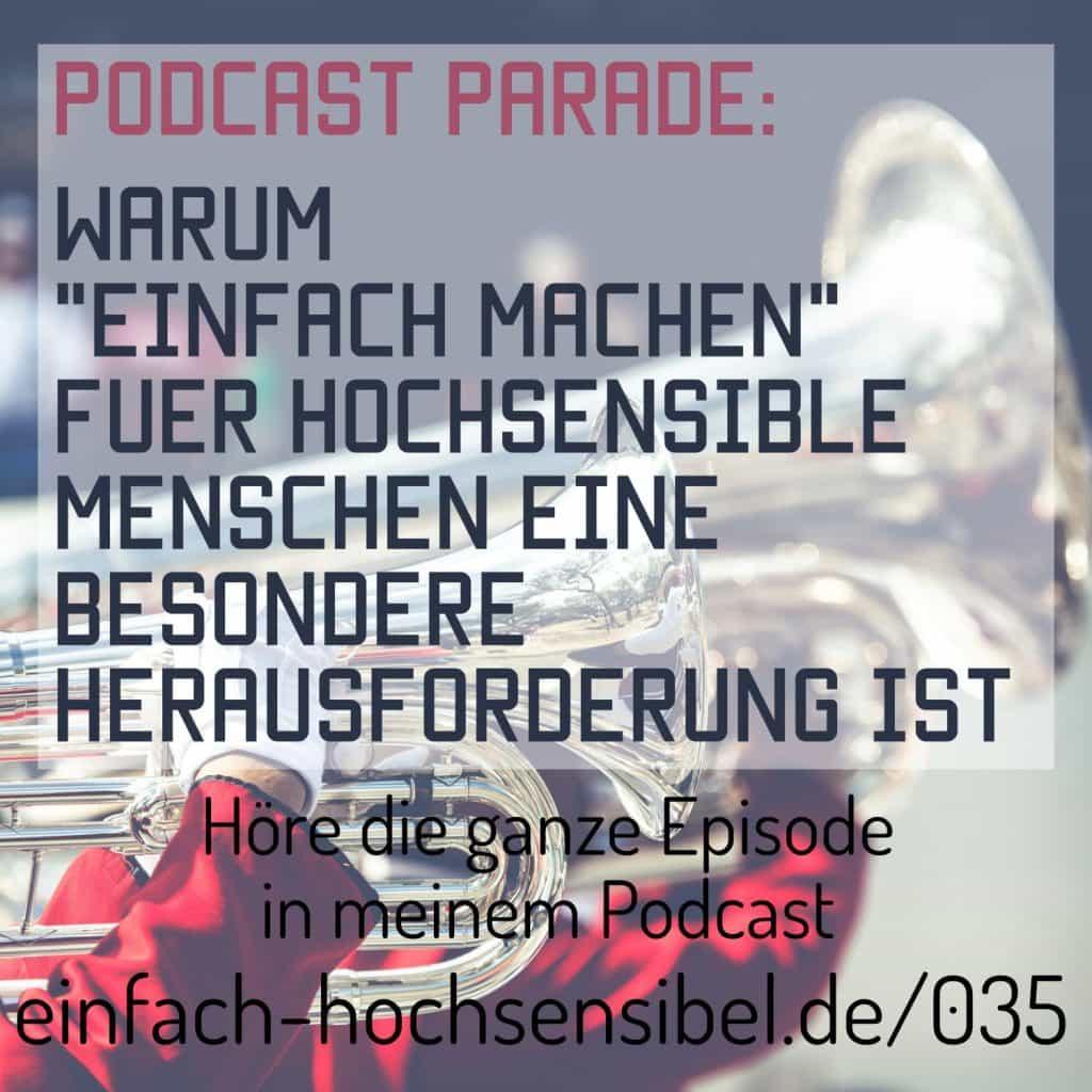 podcast parade einfach machen