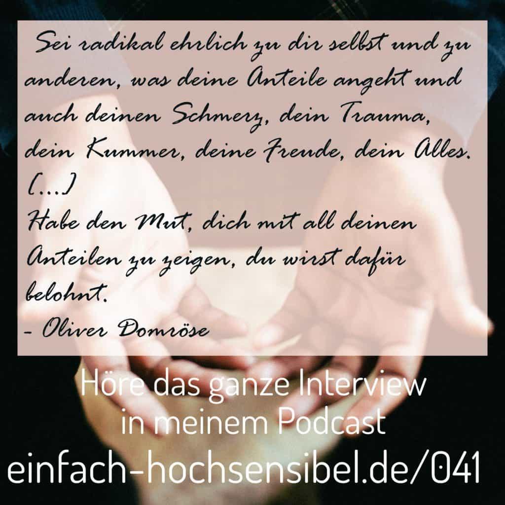 Traumata und Männer - Interview mit Oliver Domröse