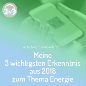 Meine 3 wichtigsten Erkenntnis aus 2018 zum Thema Energie